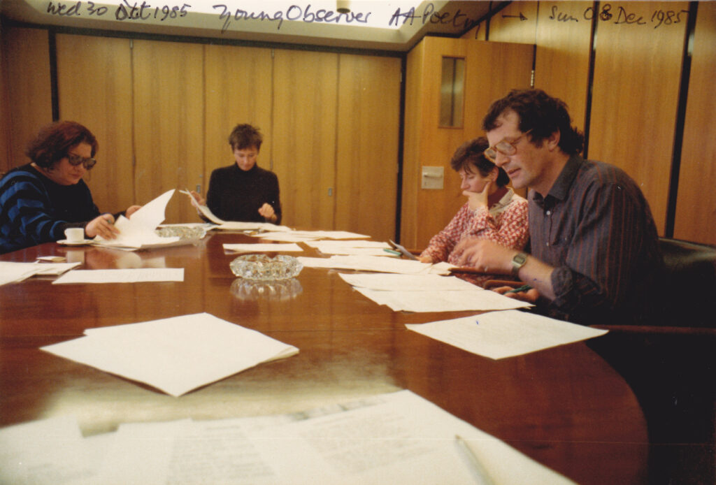 oung Observer Poetry 1985 -Ethel de Keyser, BN, Alasdair Brown