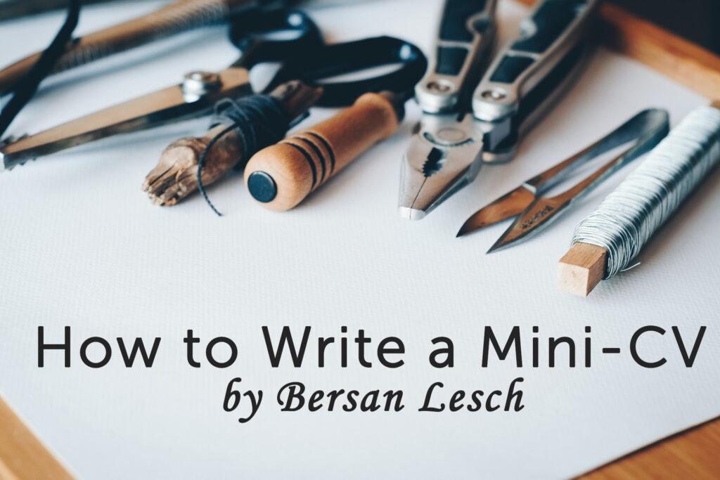 How to make a mini CV